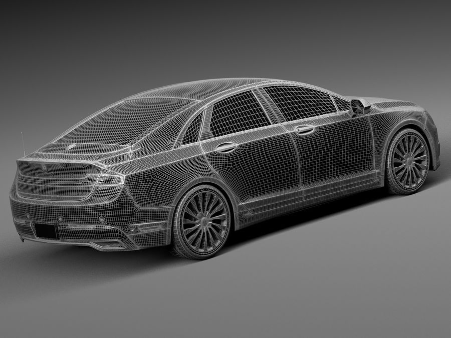 Lincoln MKZ 2017 royalty-free 3d model - Preview no. 14