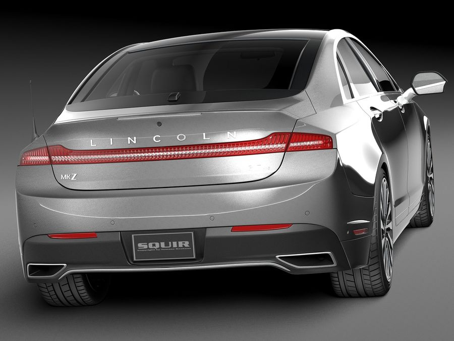Lincoln MKZ 2017 royalty-free 3d model - Preview no. 6