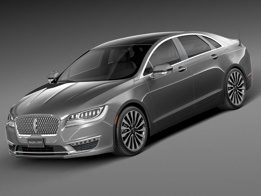 Lincoln MKZ 2017 royalty-free 3d model - Preview no. 1