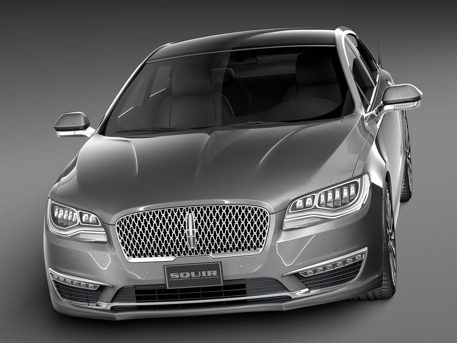 Lincoln MKZ 2017 royalty-free 3d model - Preview no. 2