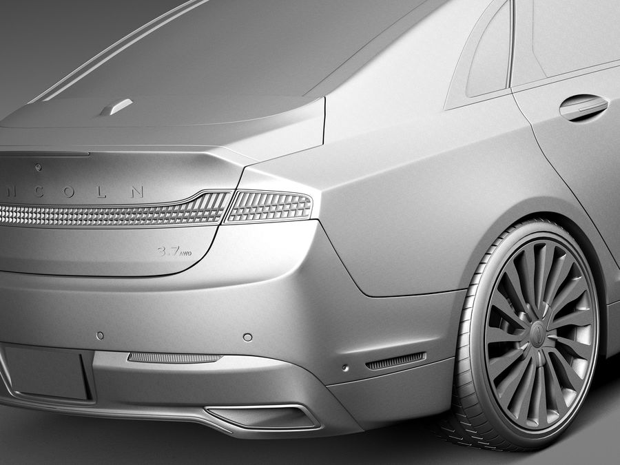 Lincoln MKZ 2017 royalty-free 3d model - Preview no. 11