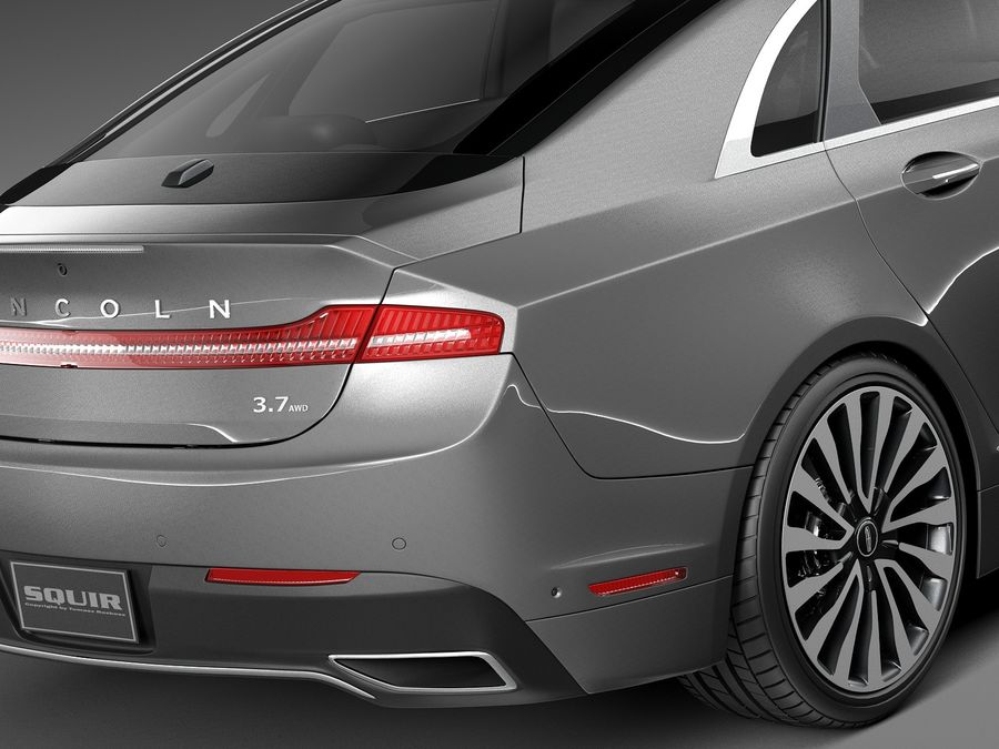Lincoln MKZ 2017 royalty-free 3d model - Preview no. 4
