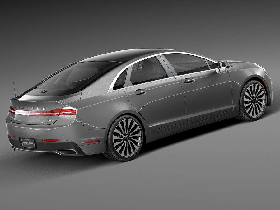 Lincoln MKZ 2017 royalty-free 3d model - Preview no. 5