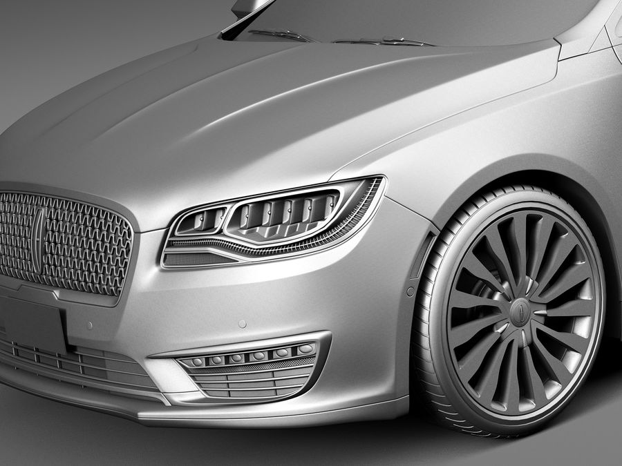 Lincoln MKZ 2017 royalty-free 3d model - Preview no. 10