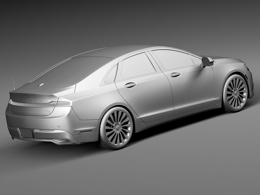 Lincoln MKZ 2017 royalty-free 3d model - Preview no. 12