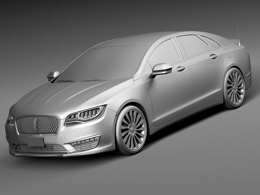 Lincoln MKZ 2017 royalty-free 3d model - Preview no. 9
