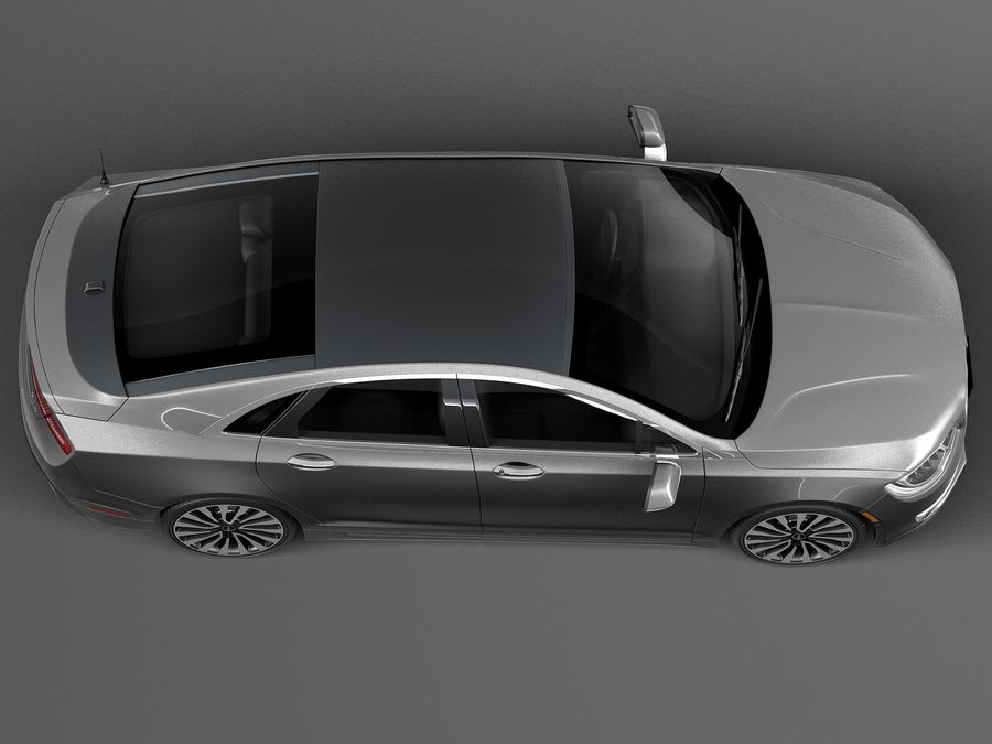 Lincoln MKZ 2017 royalty-free 3d model - Preview no. 8