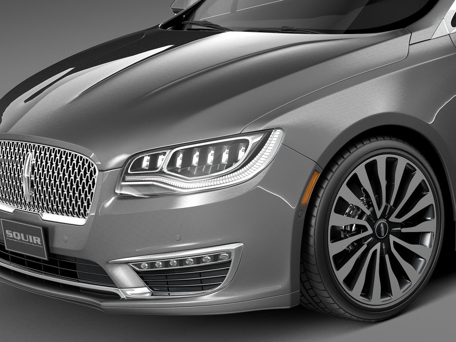 Lincoln MKZ 2017 royalty-free 3d model - Preview no. 3