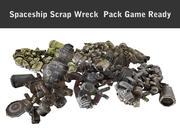 Spaceship Scrap wreck  Pack 3d model