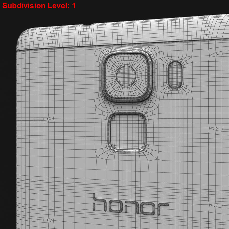 Huawei Honor 7 Gold royalty-free 3d model - Preview no. 27