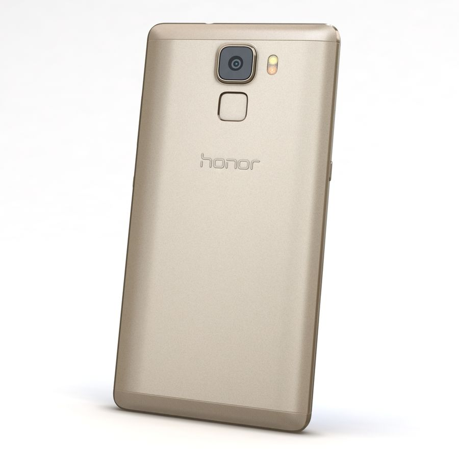 Huawei Honor 7 Gold royalty-free 3d model - Preview no. 5