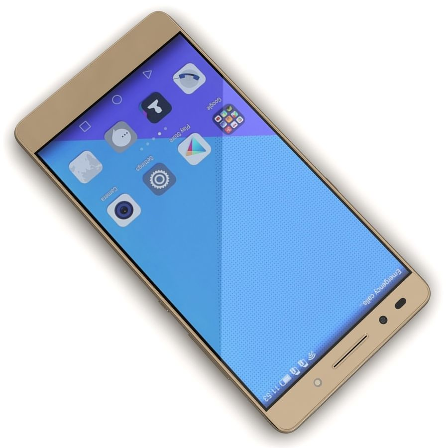 Huawei Honor 7 Gold royalty-free 3d model - Preview no. 8