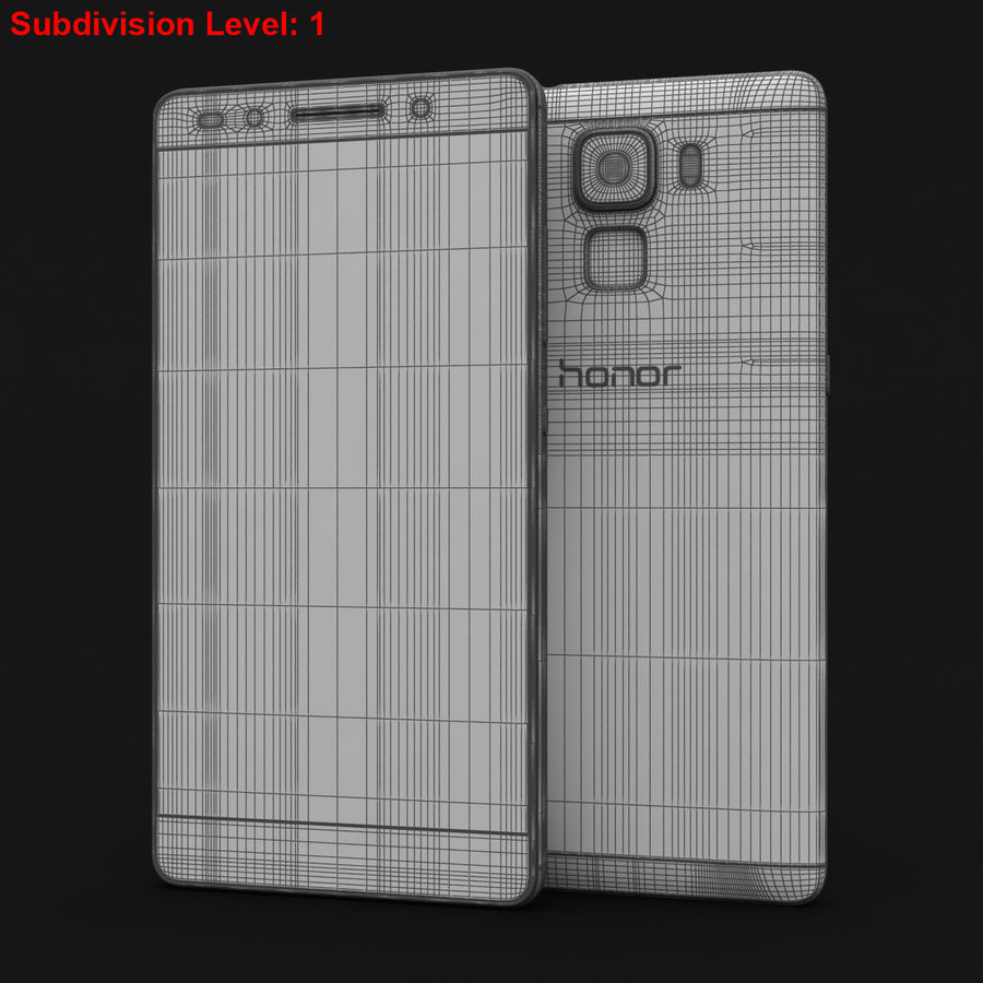 Huawei Honor 7 Gold royalty-free 3d model - Preview no. 25