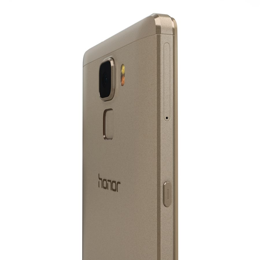 Huawei Honor 7 Gold royalty-free 3d model - Preview no. 16