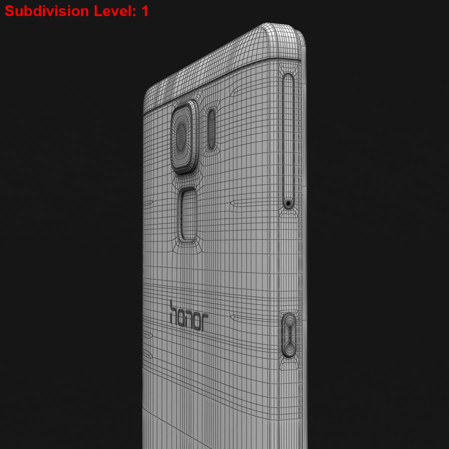 Huawei Honor 7 Gold royalty-free 3d model - Preview no. 29