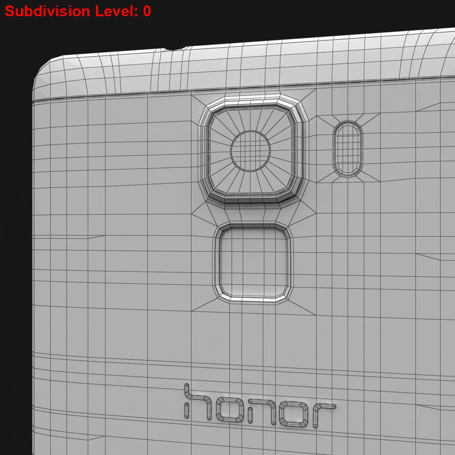 Huawei Honor 7 Gold royalty-free 3d model - Preview no. 28