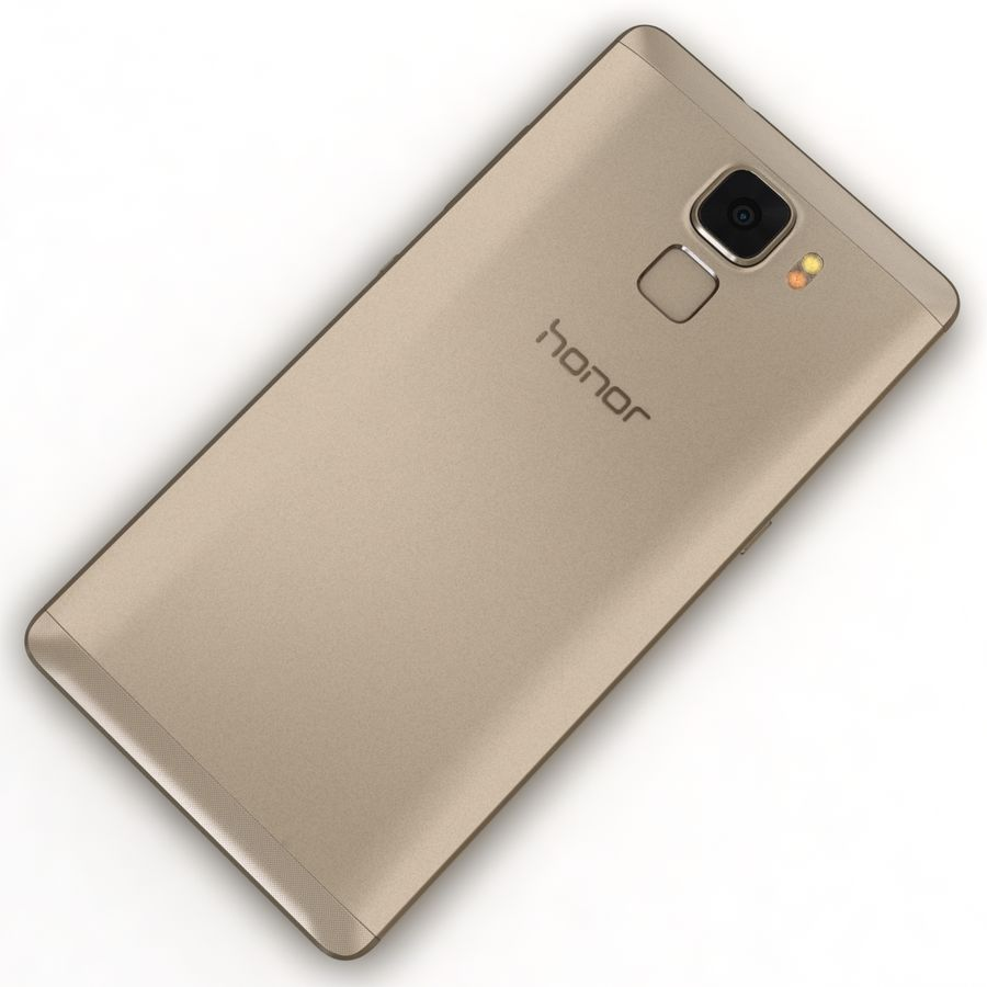 Huawei Honor 7 Gold royalty-free 3d model - Preview no. 11