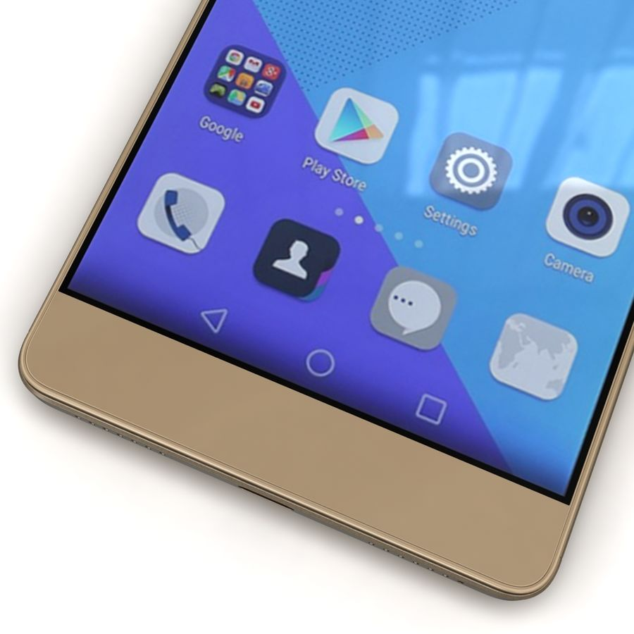 Huawei Honor 7 Gold royalty-free 3d model - Preview no. 9