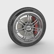 Rueda de coche deportivo modelo 3d