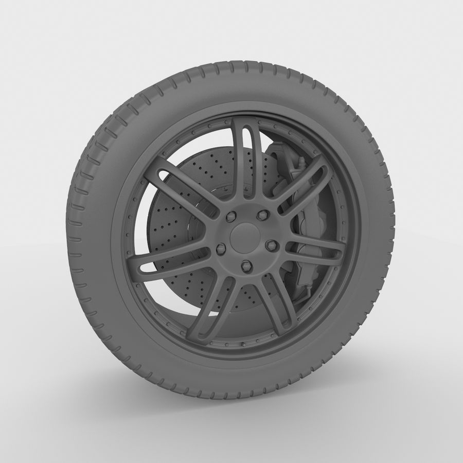 Sport Car Wheel royalty-free 3d model - Preview no. 4