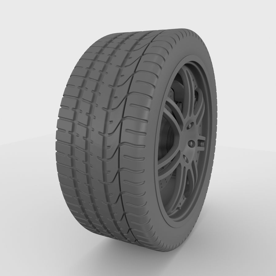 Sport Car Wheel royalty-free 3d model - Preview no. 6