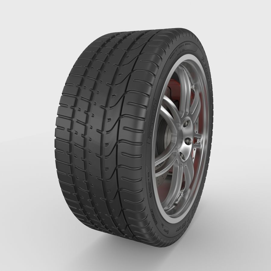 Sport Car Wheel royalty-free 3d model - Preview no. 2