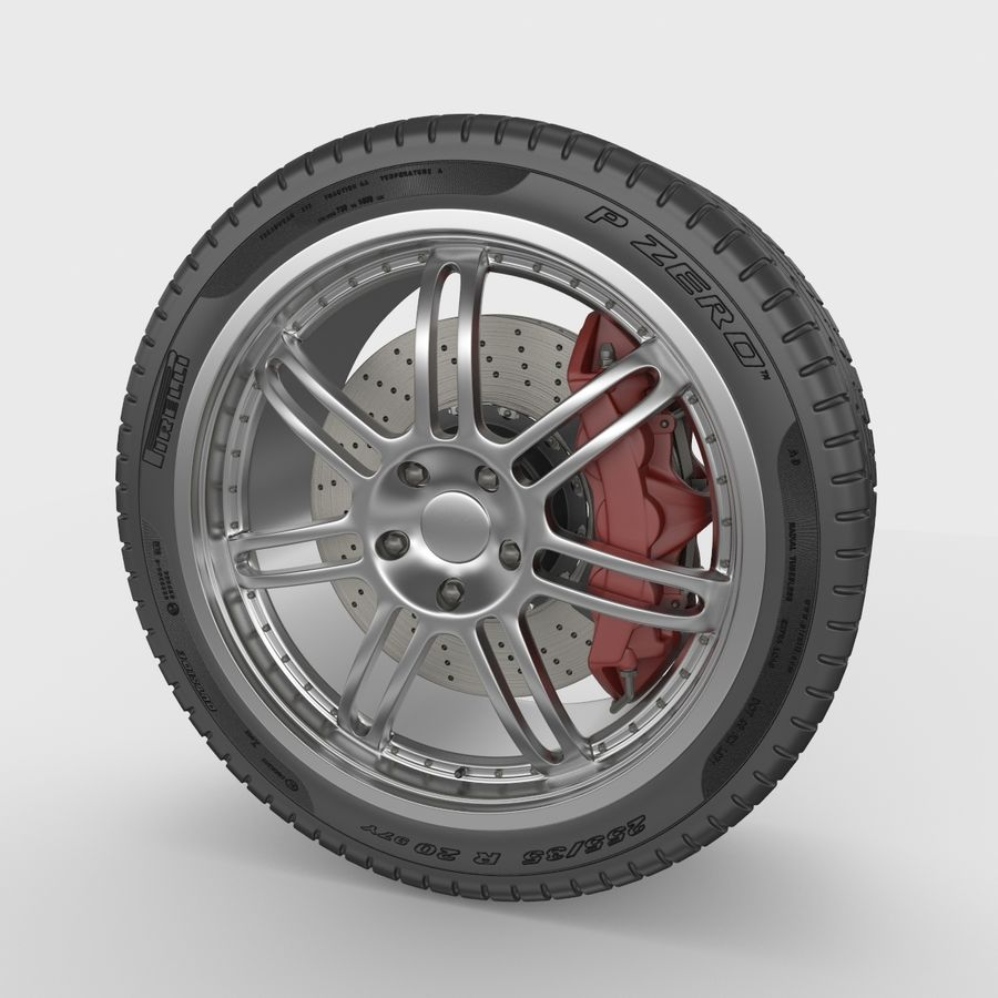 Sport Car Wheel royalty-free 3d model - Preview no. 3