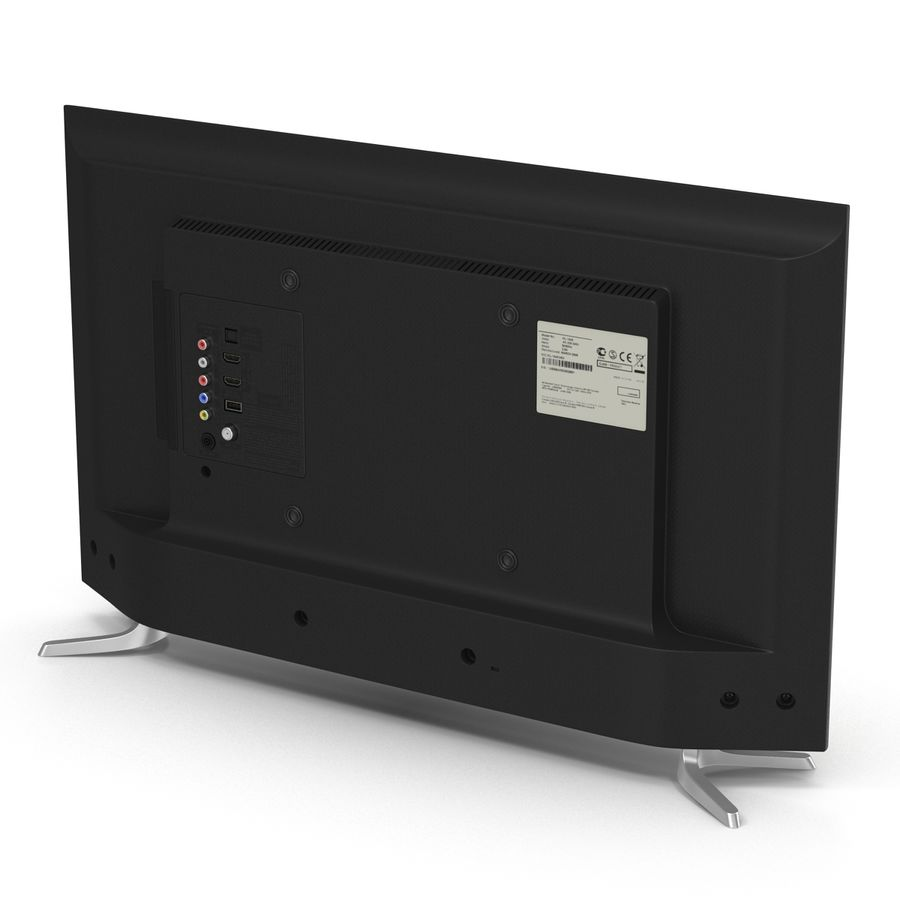 TV LED générique royalty-free 3d model - Preview no. 5