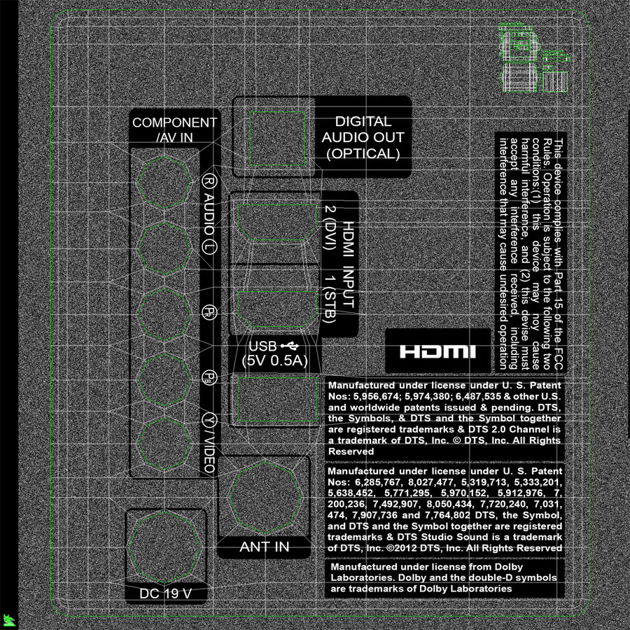 TV LED générique royalty-free 3d model - Preview no. 20