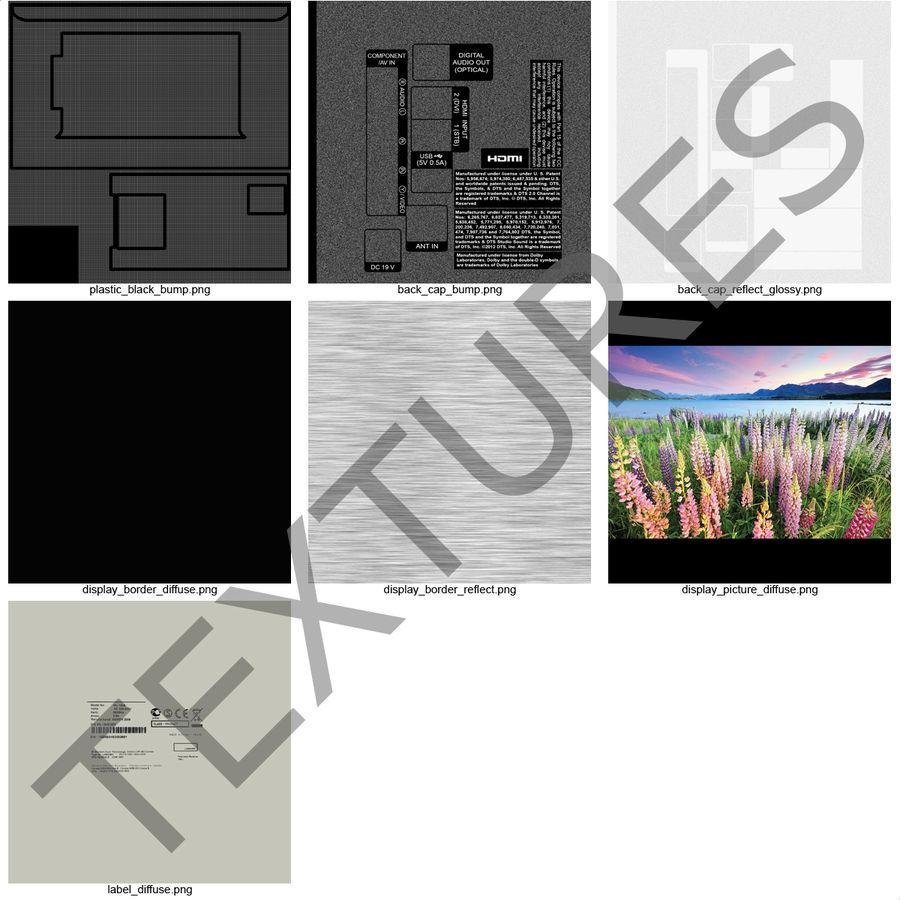 TV LED générique royalty-free 3d model - Preview no. 21