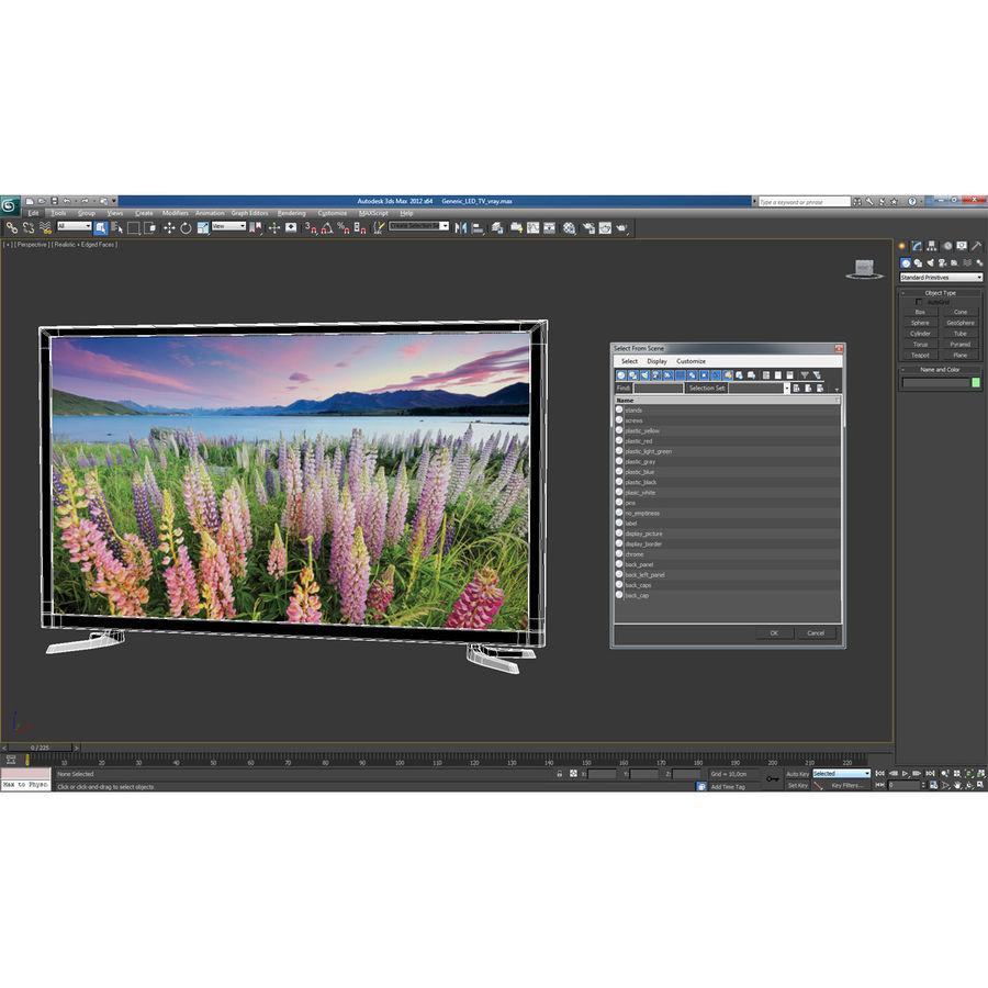 일반 LED TV royalty-free 3d model - Preview no. 22