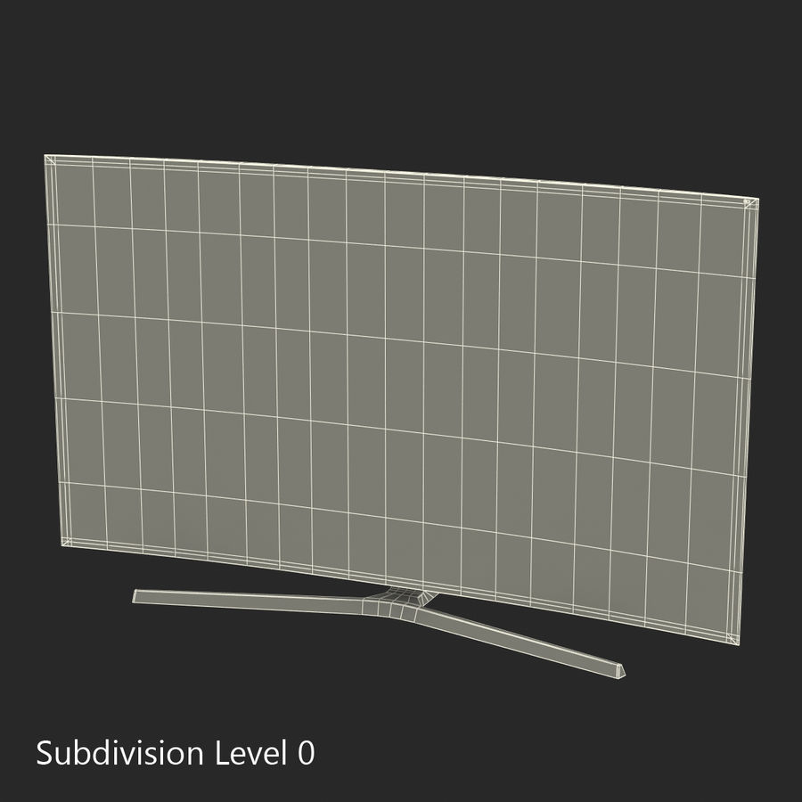 Generic Curved TV royalty-free 3d model - Preview no. 17