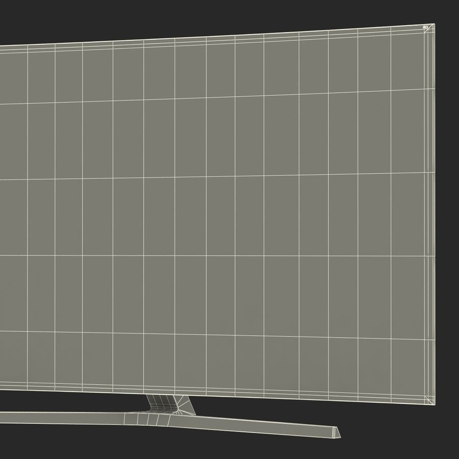 Generic Curved TV royalty-free 3d model - Preview no. 24