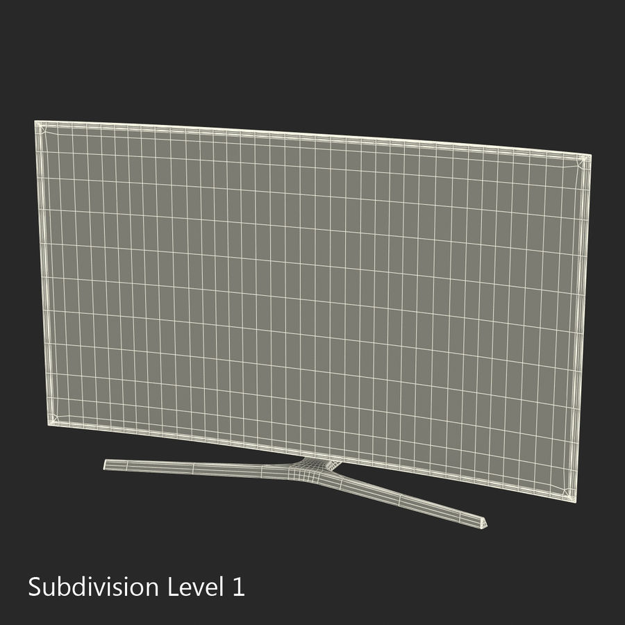 Generic Curved TV royalty-free 3d model - Preview no. 18