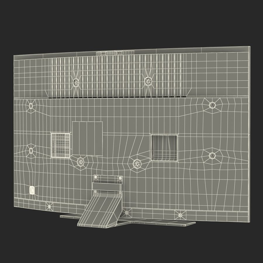 Generic Curved TV 2 royalty-free 3d model - Preview no. 24