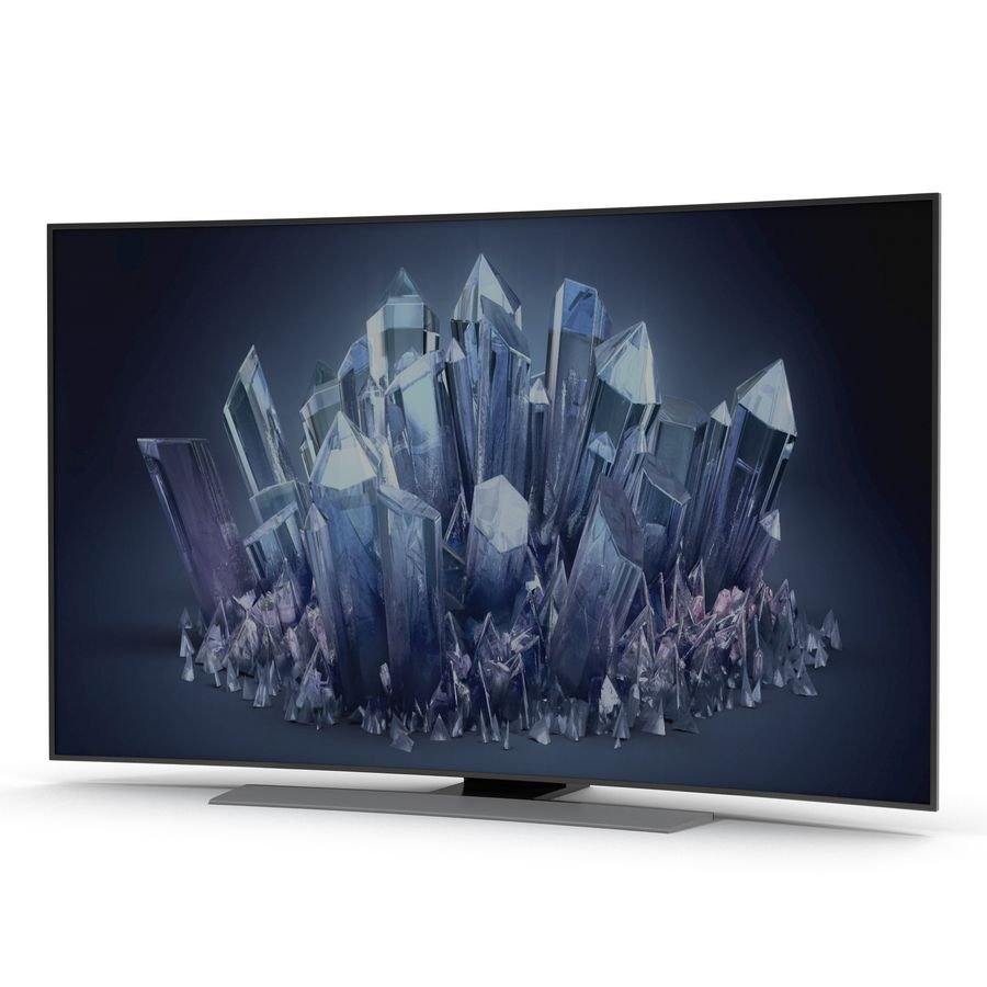 Generic Curved TV 2 royalty-free 3d model - Preview no. 2