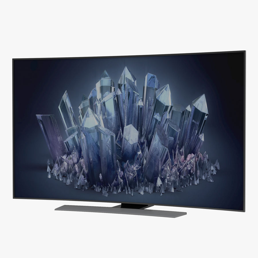 Generic Curved TV 2 royalty-free 3d model - Preview no. 1