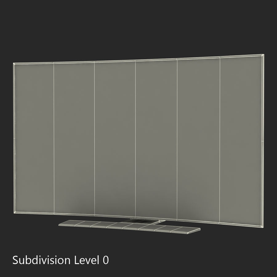 Generic Curved TV 2 royalty-free 3d model - Preview no. 17