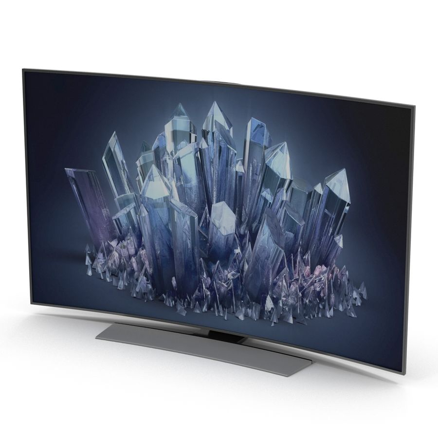 Generic Curved TV 2 royalty-free 3d model - Preview no. 4