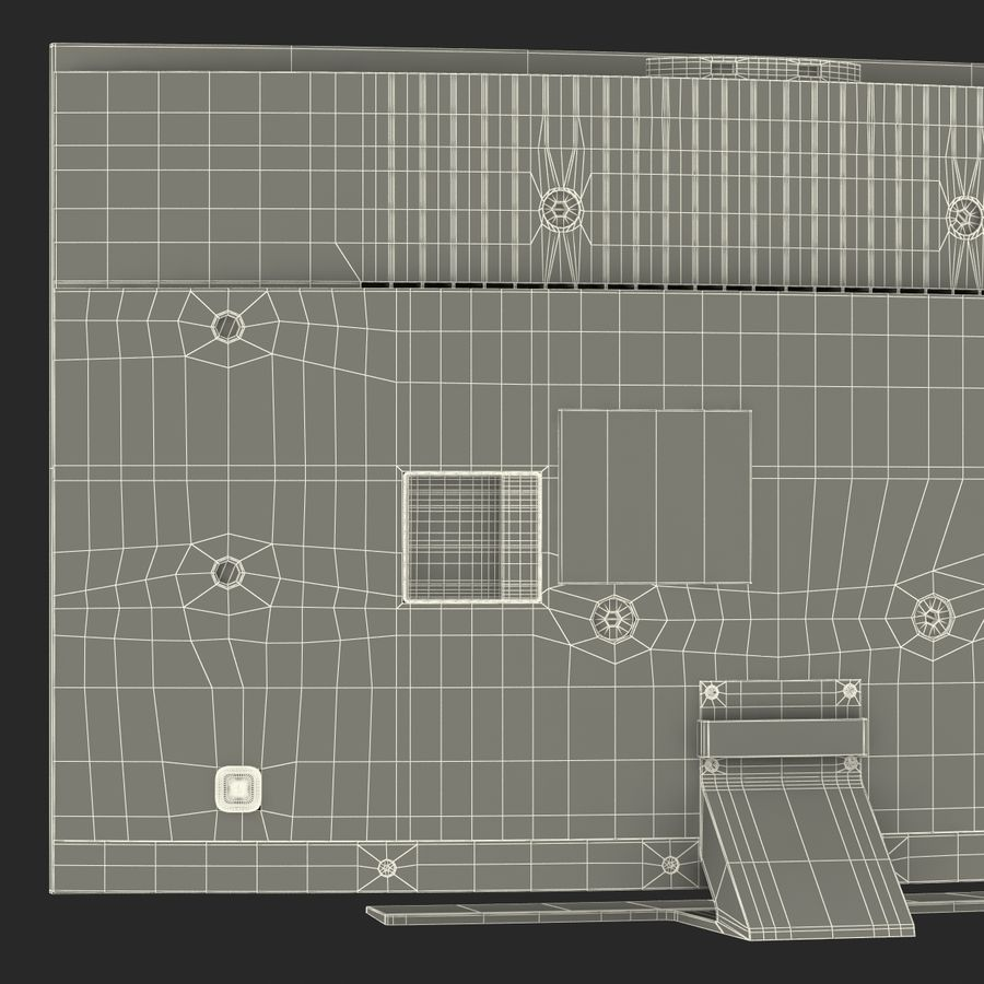 Generic Curved TV 2 royalty-free 3d model - Preview no. 27