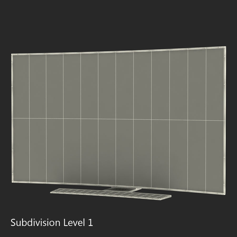 Generic Curved TV 2 royalty-free 3d model - Preview no. 18