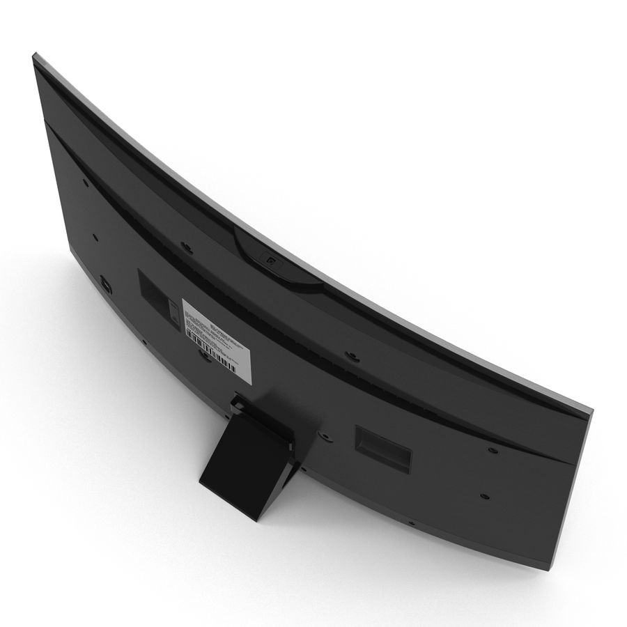 Generic Curved TV 2 royalty-free 3d model - Preview no. 7