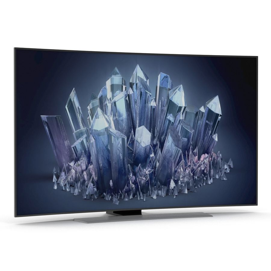 Generic Curved TV 2 royalty-free 3d model - Preview no. 6
