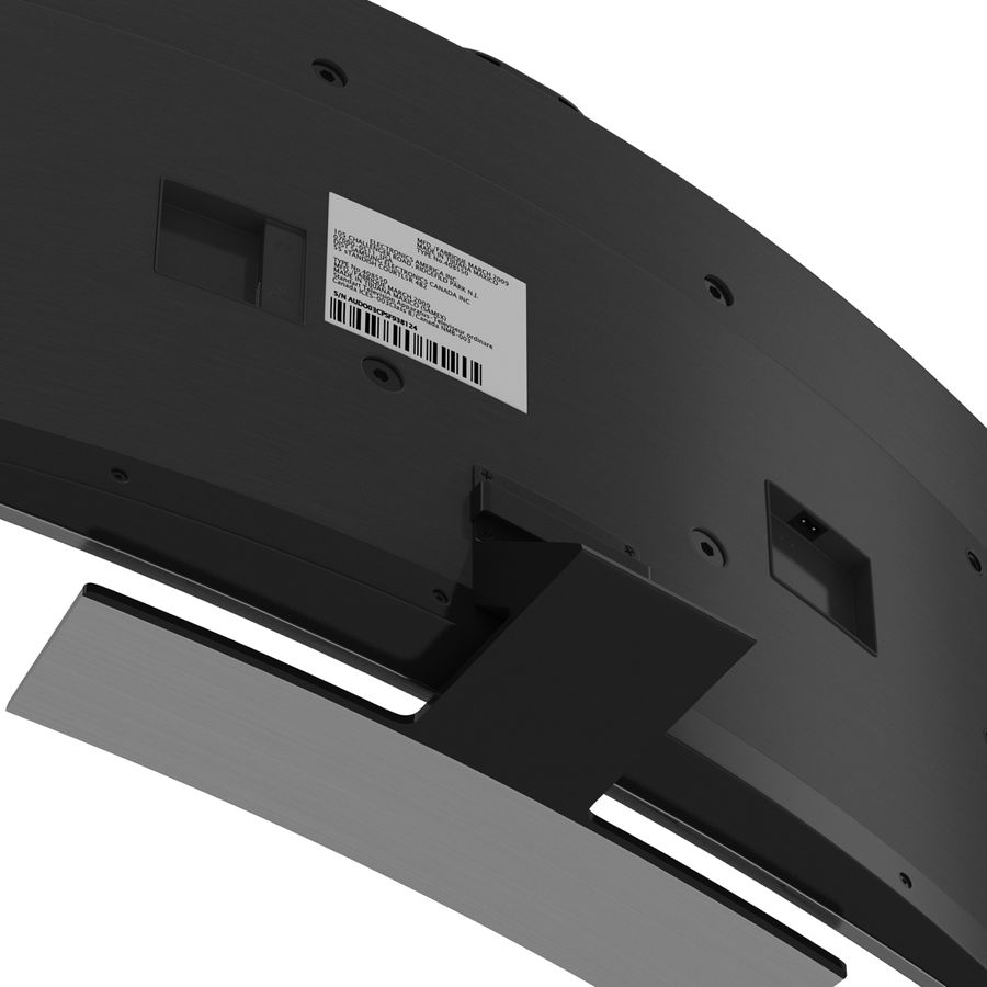 Generic Curved TV 2 royalty-free 3d model - Preview no. 16