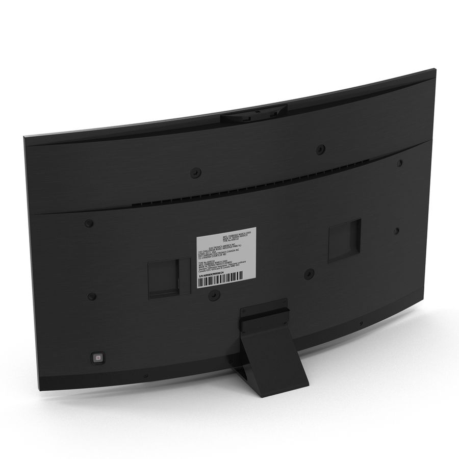 Generic Curved TV 2 royalty-free 3d model - Preview no. 5