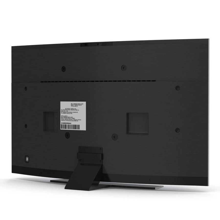 Generic Curved TV 2 royalty-free 3d model - Preview no. 3