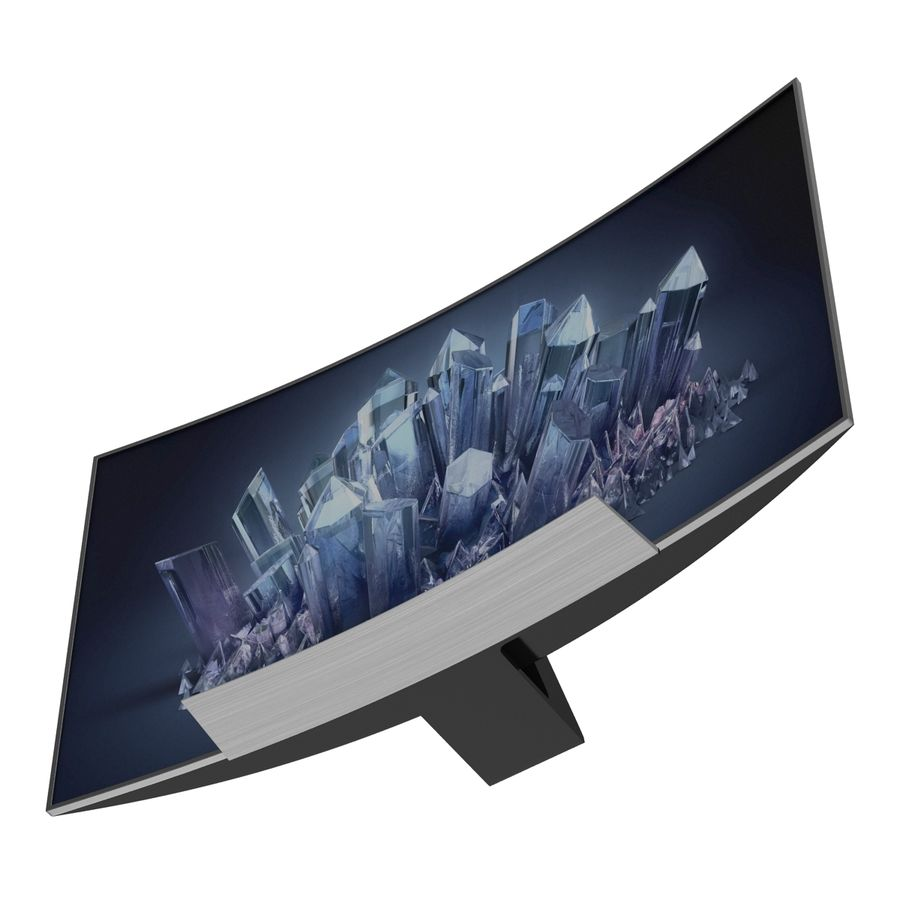 Generic Curved TV 2 royalty-free 3d model - Preview no. 8
