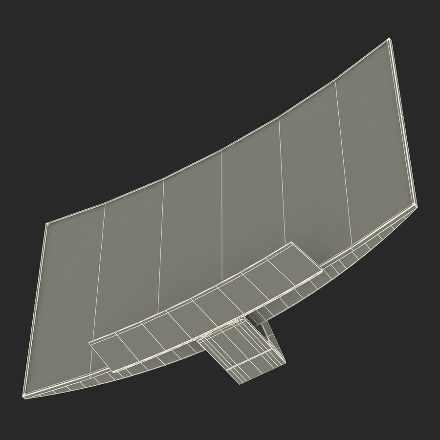 Generic Curved TV 2 royalty-free 3d model - Preview no. 25