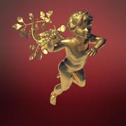 Cupido con una rama de laurel modelo 3d