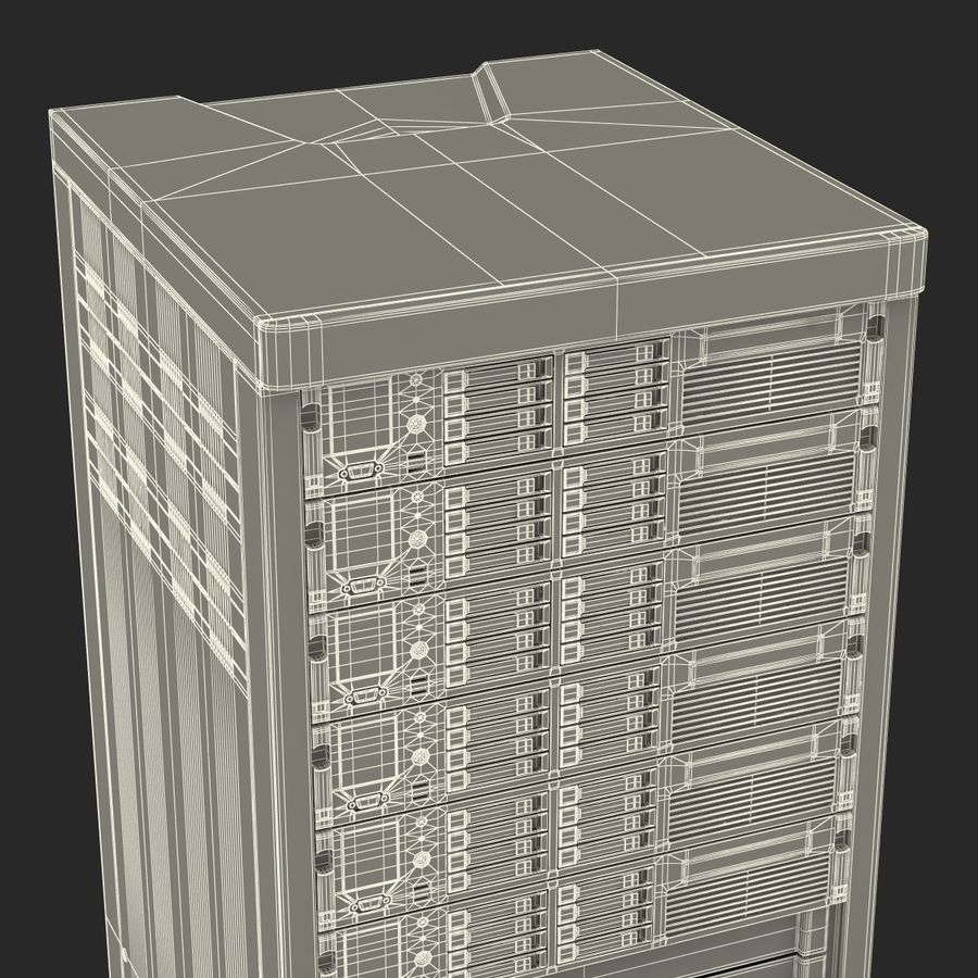 Servers in Rack 2 royalty-free 3d model - Preview no. 27
